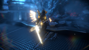 "Fourth Place: Sapphirus ""With the golden orokin, plus the Arcturus Syandana and Titania's Noble Animation, I've created the ""Ultimate Orokin Elite"", which includes all the Warframes that are currently discovered and those that are yet to be seen, and that then will became mastered by the Tenno to be part of the ""Ultimate Orokin Elite"". This is just one of those that are so called ""Elite"". They wield the power of the ""Ancient Civilization"" and they will be the ones bringing peace and order to the Solar System."""