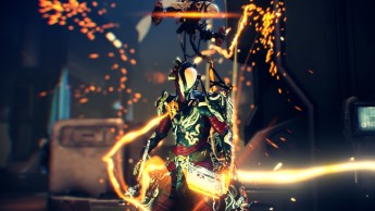 """Fifth Place: Brahki """"The aim for this one was kind of a Kuva theme. Drank the koolaid at the overall style that the new enemy type had. Made a few changes here and there (White to offset the bland original style) and kept with the theme of """"Grineer and bits of Orokin""""."""""""